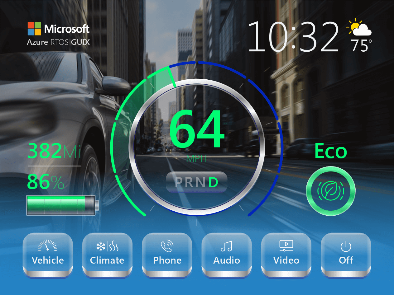 Automotive Infotainment Embedded GUI Design