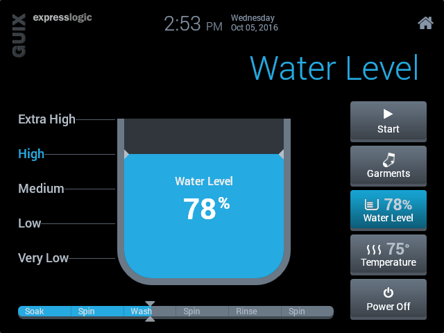 Washer Water Level